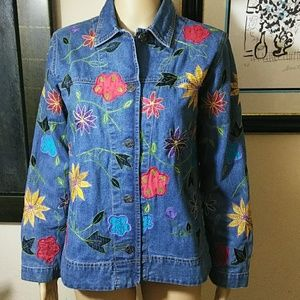 Chico's Jean Jacket embellished